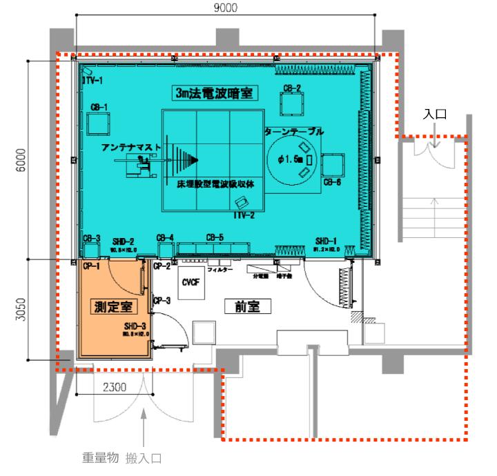 電波暗室平面図